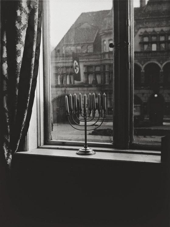 menorah defies the Nazi flag , 1931