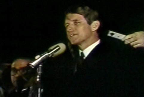 Robert Kennedy in Indianapolis, Indiana, April 4, 1968.