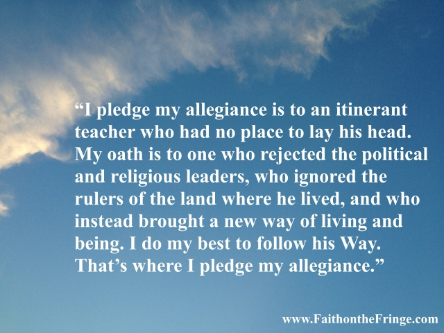 I pledge my allegiance