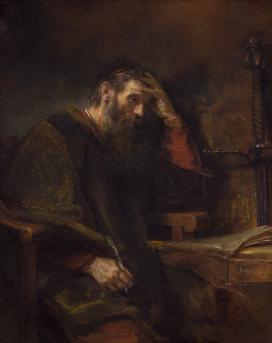 The Apostle Paul, 1657, by Rembrandt van Rijn, Widener Collection.